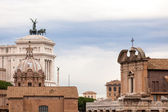 View of the national ,monument a Vittorio Emanuele II from the r — Stok fotoğraf