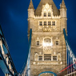 Tower Bridge and car lights trail in London, UK — Stock Photo