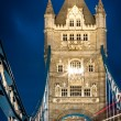 Tower Bridge and car lights trail in London, UK — Stock Photo #37432269