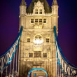 Tower Bridge and car lights trail in London, UK — Stock Photo #37432271