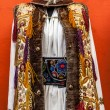 Romanian traditional costumes from Transylvania area. Sighisoara — Stock Photo