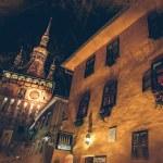 Sighisoara Medieval City, Romania photo taken in night time — Stock Photo #37582017