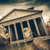 Vintage coaster - Pantheon, Rome, Italy — Stock Photo