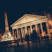 Vintage - Pantheon at Night, Rome — Stock Photo