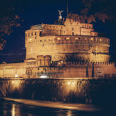 Vintage view of Castel Sant'Angelo, Rome. — Stock Photo
