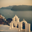 Vintage image of Oia village at Santorini island, Greece — Stock Photo