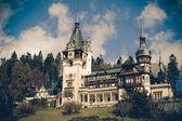 Widok peles zamek sinaia rumunii, coaster wzór — Zdjęcie stockowe