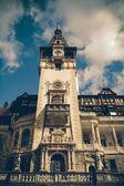 View of Peles Castle Tower, Sinaia Romania, Vintage Coaster — Stockfoto