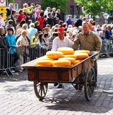 The cheese market in Alkmaar — Stock Photo