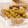 Stock Photo: Filled green olives