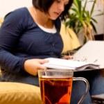 Drinking tea — Stock Photo #13869335