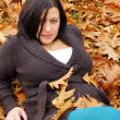 Woman in the autumn — Stock Photo #15698109