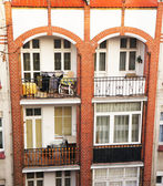 Full balconies — Stockfoto