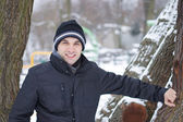 Man in the winter — Stock Photo
