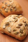 Pumkin seeds bread — Stock Photo
