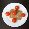 Bread and tomatoes — Stock Photo #26330301