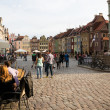 Crowdy old square of Poznan — Stock Photo #26330891