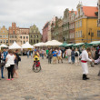 Crowdy old square of Poznan — Stock Photo #26330983