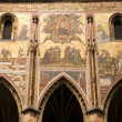 Stock Photo: Last Judgment mosaic on St. Vitus cathedral