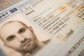 Passport close-up — Stock Photo