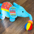 Plush elephant — Stock Photo
