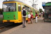 Green tram — Stock Photo