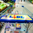 Lidl shopping cart — Stock Photo