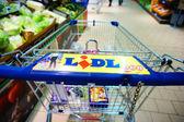 Lidl shopping cart — Stock Photo