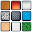Stock Vector: Apps Textured Buttons 2