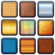 Royalty-Free Stock Vector Image: Apps Textured Buttons 1