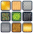 Apps Textured Buttons 3 — Stock Vector