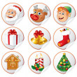 Christmas Characters and Symbols — Stock Vector