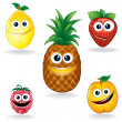 Funny Fruits A - Stock Vector