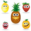 Funny Fruits A — Stock Vector #13589855