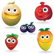 Funny Fruits D — Stock Vector