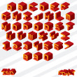 Stock Vector: Isometric Alphabet