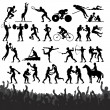 Summer Sport Silhouettes - Stock Vector
