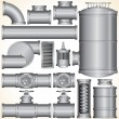 Stock Vector: Vector Industrial Elements