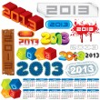 Year 2013 Vector — Stock vektor #13589955