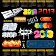Year 2013 Vector - Stock Vector