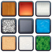 Apps Textured Buttons 2 — Stock Vector