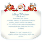 Cartoon Christmas Sign — Stock Vector