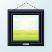 Picture with Beauty Landscape — Stockvector