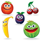 Funny Fruits B — Stock Vector