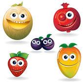 D frutas engraçadas — Vetorial Stock