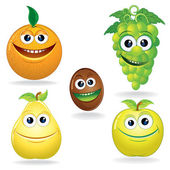 Funny Fruits C — Stock Vector