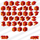 Isometric Alphabet — Stock Vector