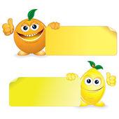 Orange with Lemon — Stock Vector