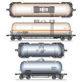 Demiryolu deposu araba — Stok Vektör