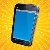 Retro Modern Cellphone — Stock Vector